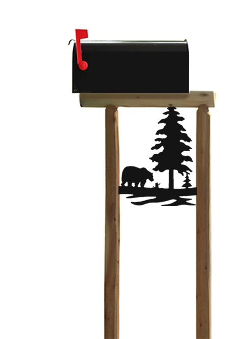 bear mailbox post 1 clingermansclingermans
